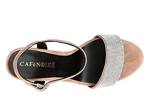 MM CafèNoir Tacco in Strass Beige KNB525 con Sandalo CAMOSCIO 105 094 BrxZBHwY