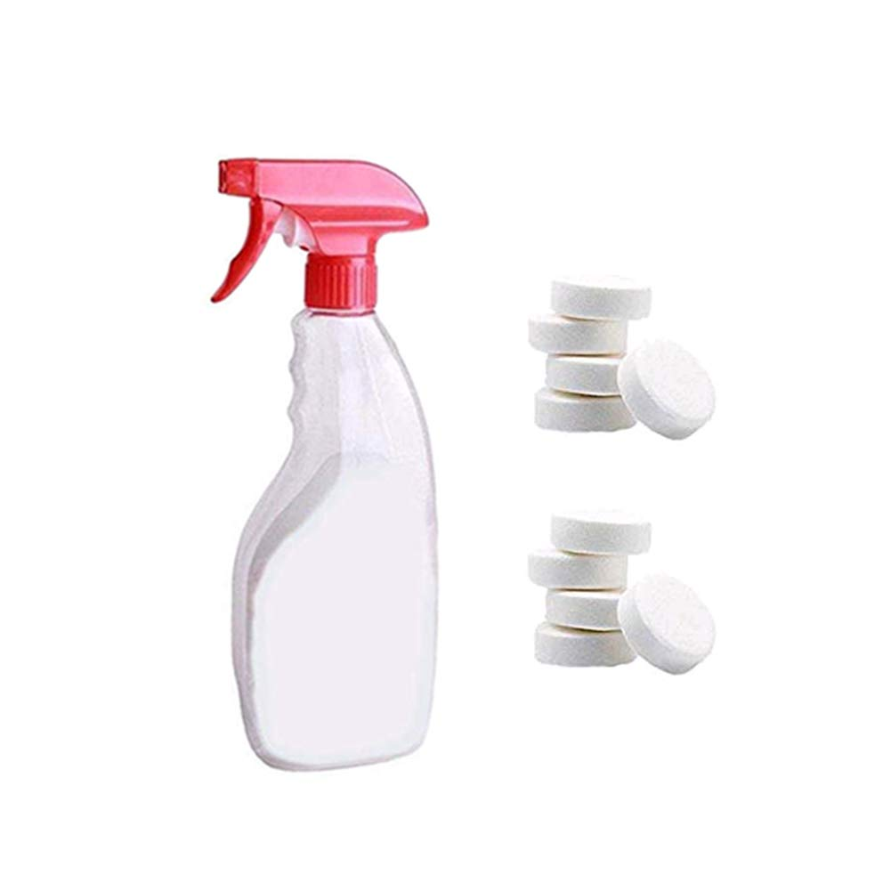 Multi Functional Effervescent Spray Cleaner Set, Car Auto Windshield Washer with One Spray Bottle