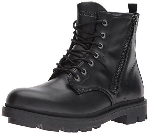 GUESS Men's Archibald Combat Boot, Black, 9 Medium US