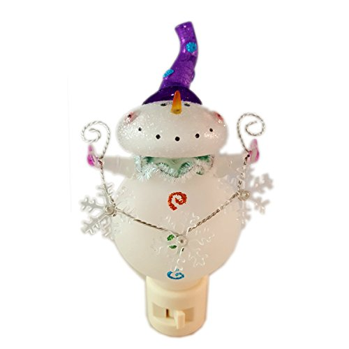 Seasons of Cannon Falls Inspring Traditions Bobble Head Snowman Night Light