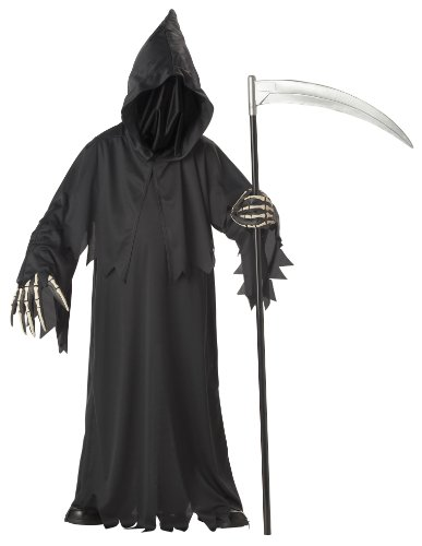 California Costumes Toys Grim Reaper Deluxe, Large (Costume For 11 Year Old Boy)
