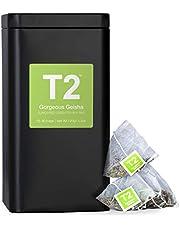 T2 Tea Gorgeous Geisha Green Tea in Tea Caddy 60 Teabags, 1 x 60 Count
