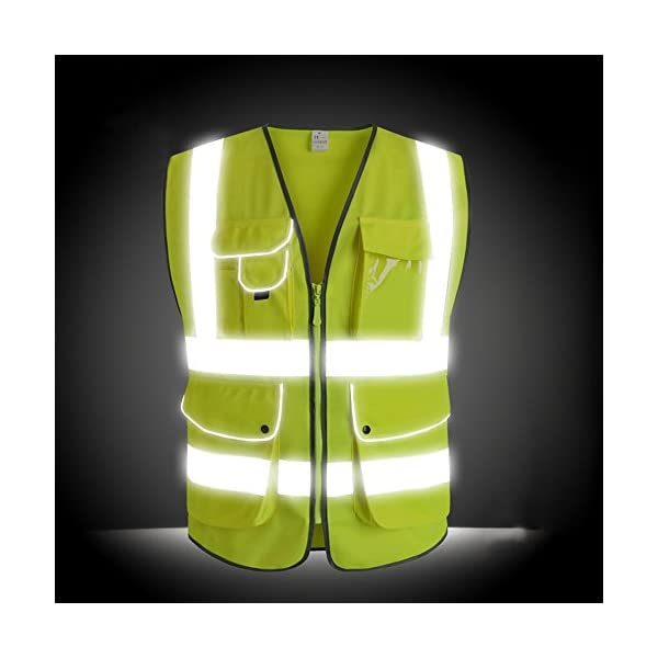 G & F Products Reflective Vest Safety Vest High Visibility with reflective strips multi-pockets ANSI Class 2 standard… 2