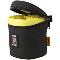 Ape Case ACLC8 Zippered Adjustable or Attachable Compact Case for Lenses (Black/Yellow)