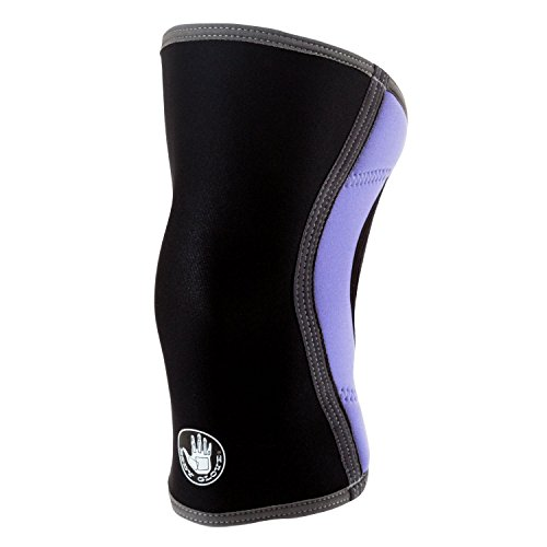 (Body Glove 3mm Neoprene Knee Sleeve Support Breathable Anti-Slip Thermal Compression Protector Single Wrap Arthritis ACL Injury Meniscus Tear Joint Pain Relief for Sports, Unisex (Black & Lavender))