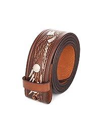 gelante Genuine piel de grano completo Cinturón Correa sin Hebilla de cinturón