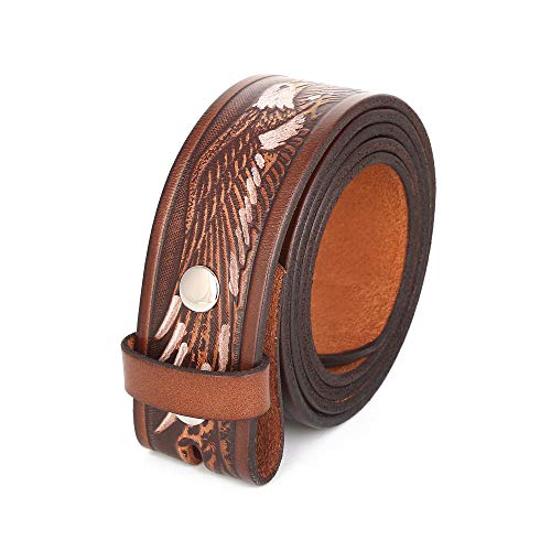 Gelante Genuine Full Grain Leather Belt Strap without Belt Buckle G2017-L