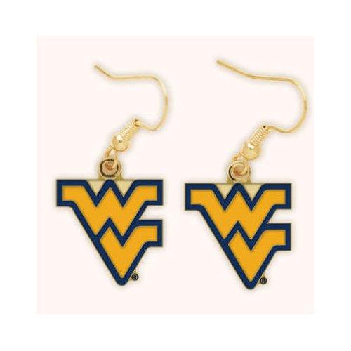 WinCraft NCAA West Virginia University Earrings Jewelry Card
