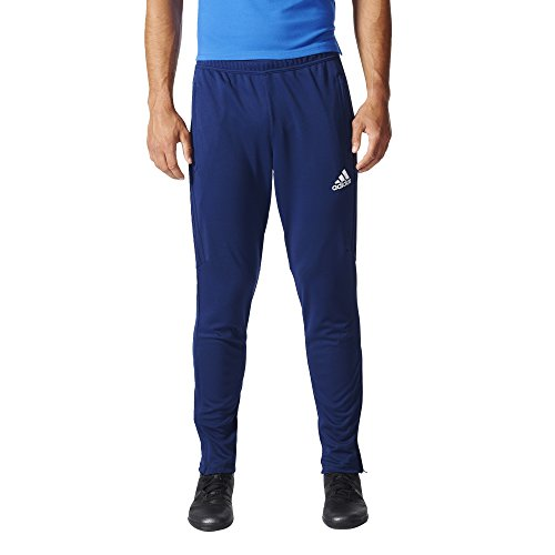 adidas Mens Soccer Tiro 17 Pants, Medium, Dark Blue/White