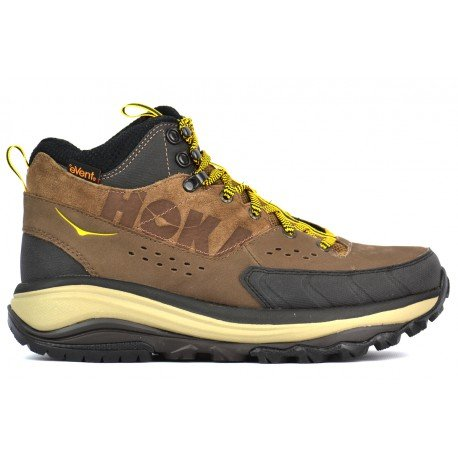 Hoka One One Tor Summit Mid WP Hiking Boot - Mens Brown/Golden Rod, 10.0