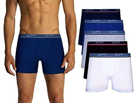 ebdd57fbf Kit Com 10 Cuecas Boxer Lupo Algodão Box Masculina (3 Pretas - 3 Brancas -