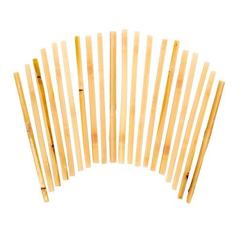 Raw Sugar Cane Swizzle Sticks - Pack of 20 (Swizzle Cane Sticks Sugar)