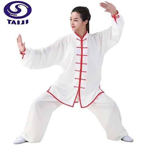 M.S.T. Unisex Cotton Silk Tai Chi Uniform Men Martial Arts Tai Chi Kung fu uniform Women Tai Chi Suits (M, TCK09)