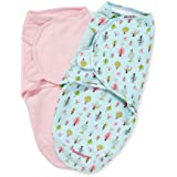 Summer Infant 2 Count Swaddleme Blanket, Sweet Trees, Small