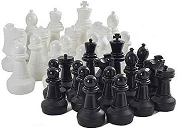 MASGAMES Juego de Ajedrez Gigante, Piezas de plastico Resistente para Jugar al ajedrez: Amazon.es: Juguetes y juegos
