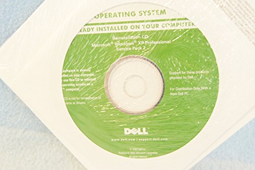 Dell Microsoft Windows XP Professional + Service Pack 2 P/N: JD153 Sealed New-Operating System Driver PC Computer Software Program Recovery Replacement Disc CD-Rom