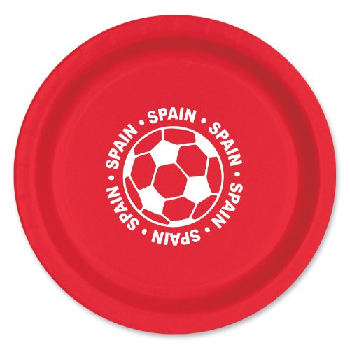 Inch Plate - Spain(8/pkg) (Pack of 3) by Beistle