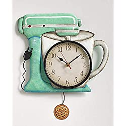 Retro Metal Pendulum Wall Clock, Mixer