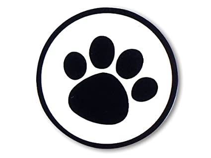 Amazoncom 100 Dog Animal Paw Print Sticker 1 12 Black Clear