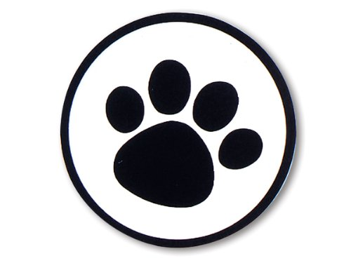 Pack Of 500, 1-1/2'' Diameter Black Paw Print On Clear Round Seals Made In USA perfect for pet lovers