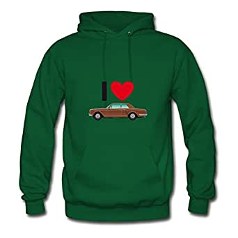 X-large Unofficial Green Hoody For Women Cotton Fashionable Cargraphic 166