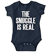 Snuggle is Real Cute Baby Clothes New Parent Funny Gift Idea Romper Bodysuit