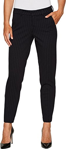 Windowpane Trouser Pant - Liverpool Women's Kelsey Slim Leg Trousers in Windowpane Ponte Knit Navy Pants