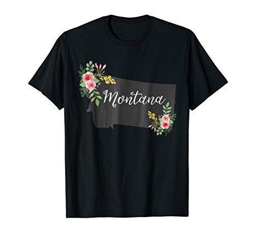 Montana Home State Shirt - Watercolor Flower MT T-Shirt
