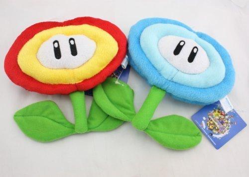 (ToyKingToys Super Mario Fire Flower & Ice Flower Plush Plush)