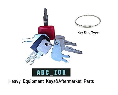 Construction Ignition Key sets - sets of 7, 10, 16, 21, 24 for backhoes, tools, case, cat,hitachi etc.(7 Keys Set) (7 keys)