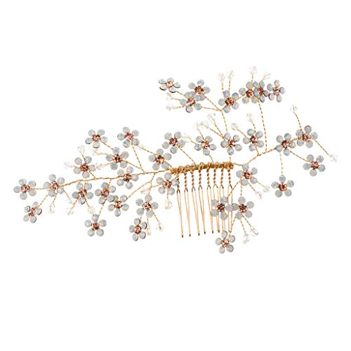 Wedding Jewelry Bride Crystal Hair Comb Hair Clip Clamp Hairband Headdress - Claire Ladybug