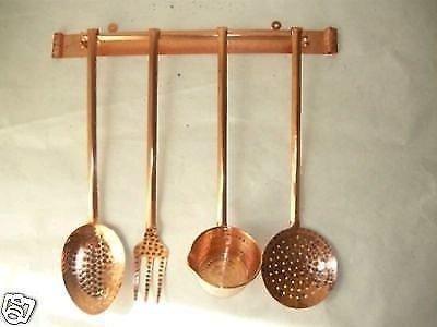 arterameferro Set mestoli decorativi da cucina in rame 4 pezzi con ...