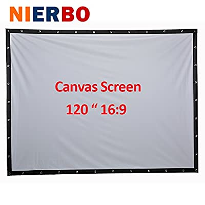 Projector Screen High-definition Screen Portable White Curtain Pantalla Proyector 16:9 HD Portable Projection Screen for Indoor Outdoor