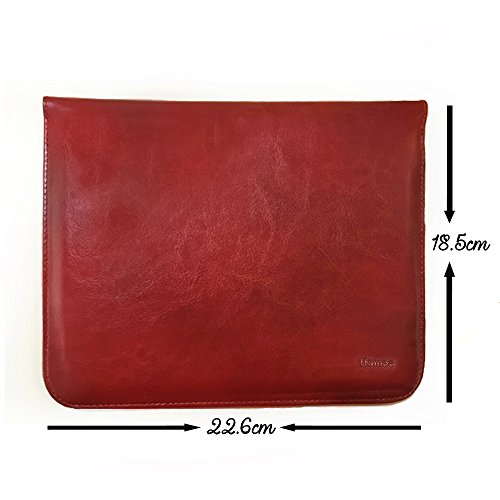 Hamee Universal Tan Brown Leather Tablet Sleeve for under 7-