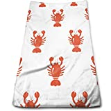 DAPANLA Cartoon Animal Lobster Pattern Towels - Lightweight High Absorbency Multipurpose Quick Drying Pool Gym Bath Towels