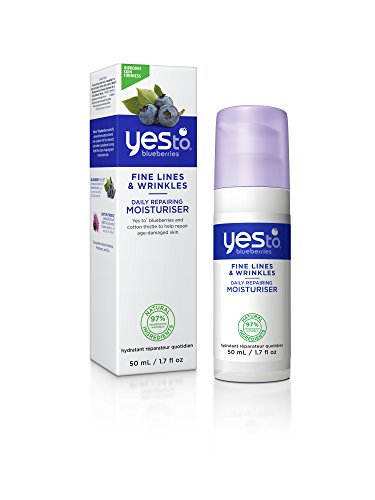 Yes To Blueberries Fine Lines & Wrinkles Daily Repairing Moisturizer, 1.7 (Blueberry Cotton)