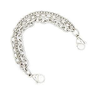 Triple Strand Medical Alert ID Stainless Steel Bracelet