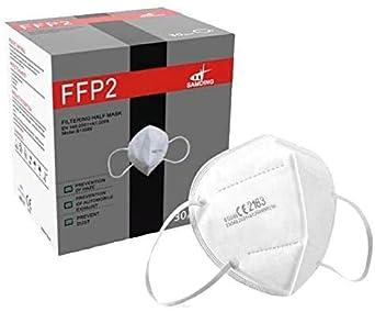 Mascherine ffp2 con certificazione europea ce 2163 a 5 strati pdi alto filtraggio NR-2163