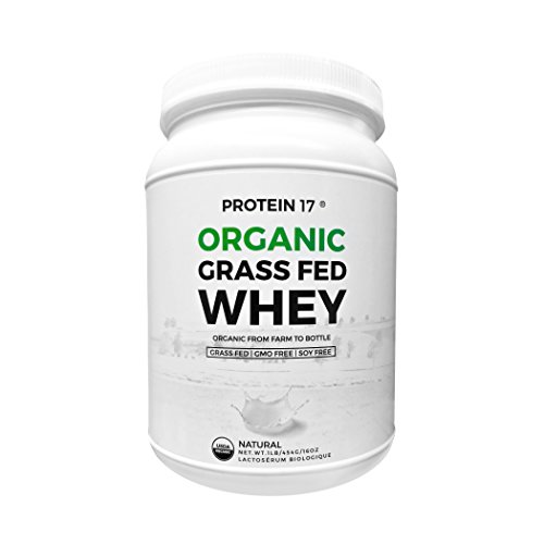 Protein 17 - Organic, Grass-Fed Whey Protein, Delicious Natural Flavor, 1lb/16oz/454g (Organic Grass Fed Whey Protein)