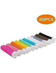 Lip Brush, 300 PCS Disposable Makeup Applicators, Lip Gloss Brush Lipstick Applicator Wands, Perfect Beauty Lipstick Cosmetic - Tifanso Multicolor Makeup Tool Kits