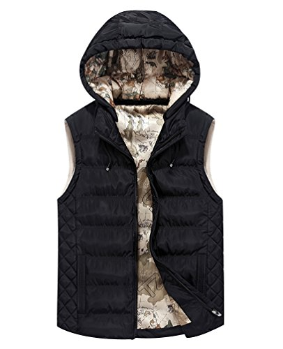 Black Bodywarmer Bodywarmers Mens Winter Puffer Sport Hooded Removable With Hood Gilets Padded Thicken Puffa Gilet Fit Vest Jacket Body Quilted Sleeveless Jackets Warmer Slim Bubble SqSrRgw7