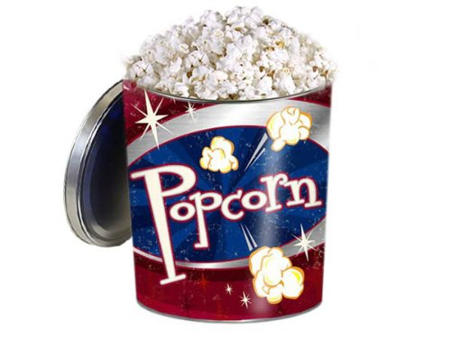 Buttery Cheddar Cheese Popcorn Tin - Gourmet Popcorn Gift Tin - Retro Style, Original Gourmet White