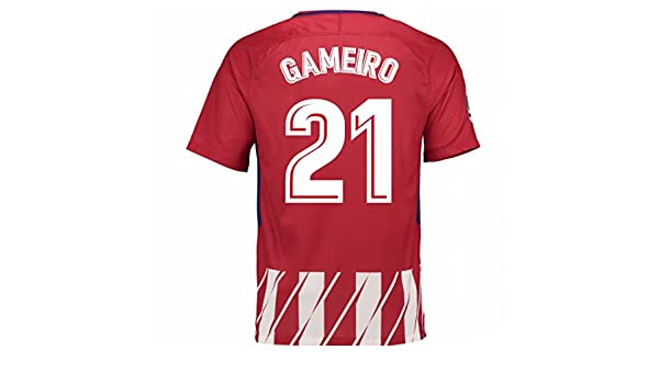 2017-2018 Atletico Madrid Home Football Soccer T-Shirt Camiseta (Kevin Gameiro  21)  Amazon.es  Deportes y aire libre ea4256c60e719