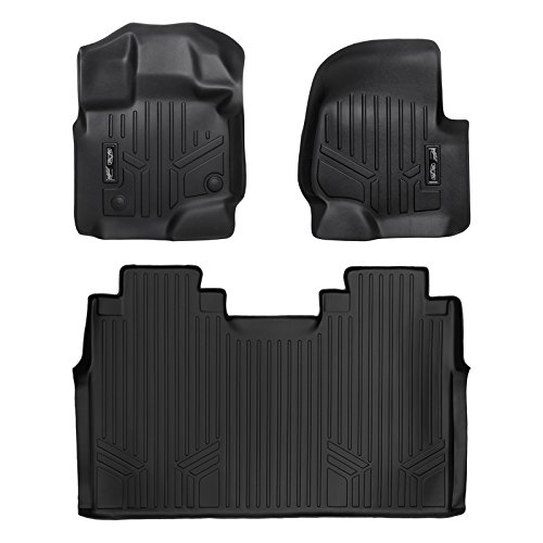 (MAX LINER A0167/B0188 Custom Fit Floor Mats 2 Liner Set Black for 2015-2019 Ford F-150 SuperCrew Cab with 1st Row Bench Seat)