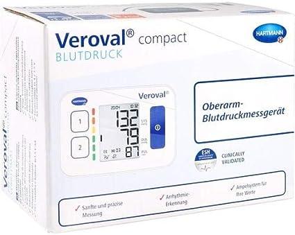 Paul Hartmann Ag Veroval compacto superior del brazo monitor de presión arterial, 1 St