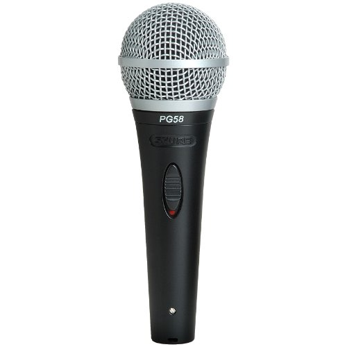 Shure PG58-XLR Cardioid Dynamic Vocal Microphone with XLR-to-XLR Cable