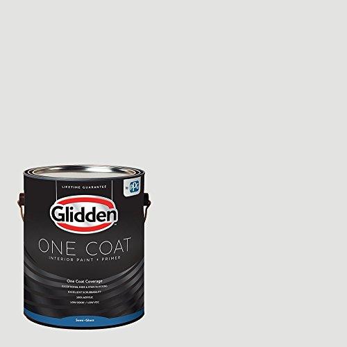 Glidden Interior Paint + Primer: White/Aria, One Coat, Semi-Gloss, 1 Gallon
