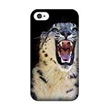 Margarita Thomas (TM) Design Iphone 4/4S Animal Snow Leopard Case, Shockproof Silicone Impact Rugged Armor Defender Case Cover for Iphone 4/4S