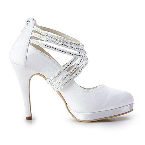 Minitoo , Escarpins pour femme - blanc - White-10cm Heel, 38