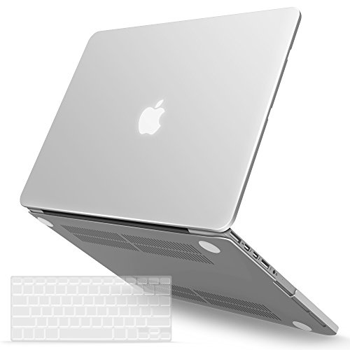 iBenzer Basic Soft-Touch Series Plastic Hard Case & Keyboard Cover for Apple MacBook Pro 13-inch 13'' with Retina Display A1425/1502 (Previous Generation) (Clear) by iBenzer